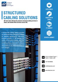 Finding the right structured cabling companies to provide the right solution for your business requirement can be an uphill task especially when the technology is changing so rapidly. Server Cabinet, Structured Cabling, Innovation Strategy, Cat6 Cable, Intelligent Technology, Cable Companies, Business Requirements, Network Solutions, Fiber Optic