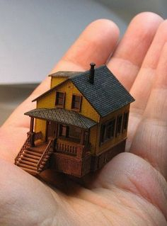 ...A Dollhouse For Your Dollhouse Dolls... 1/144th scale dollhouse.