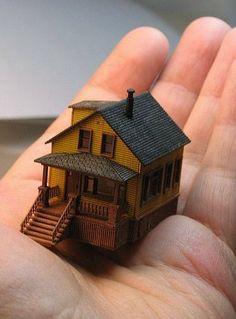 ...A Dollhouse For Your Dollhouse Dolls... 1/144th scale dollhouse.