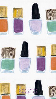 Makeup Wallpapers, Printable Art, Printables, Collage Art, Iphone Wallpaper, Nail Polish, Prints, Laptop, Phone Backgrounds
