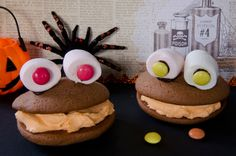 le whoopies monster, une recette facile et amusante pour les enfants pendant les vacances d'Halloween