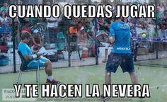 """""""Cuando quedas para jugar y te hacen la nevera"""". Meme muy gracioso el que ha hecho Paquito Navarro!  #worldpadeltour #padel #instapadel #padeltime #padeladdict"""