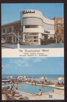 Postcard MIAMI BEACH Florida/FL  Fountainhead Motel Dual view 1950's | Collectibles, Postcards, US States, Cities & Towns | eBay!