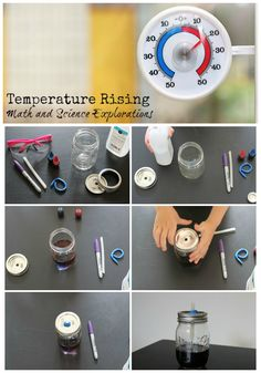 DIY Summer Science Activity.  Discover with  your child about temperature rising with this fun hands on activity that explore both math and science concepts