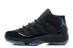 68ca08c7e85b19 Air Jordan 11 (Xi) Retro Black Gamma Blue-Black-Varsity Maize Basketball