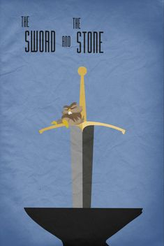 Disney the Sword and the Stone movie poster king arthur art print disney poster movie art fan art merlin wizard owl sword    This print was created