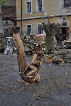Vodník od Jan Paďour (Janek) - Sochy, sošky, plastiky - Česká tvorba Wood Carving, Firewood, People, Projects, Log Projects, Wood Sculpture, Woodburning, Blue Prints, Wood Carvings