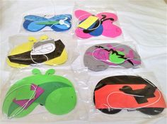 Bug Mask Set of 6 DIY Craft Kits. Perfect of party favors at bug theme party. Self adhesive small parts in sealled plasti bag to make one of each: butterfy; lady bug; spider; dragon fly' grasshopper; bee I'm a Shopify merchant with Buyable Pins and I want a conversion tag. I'm not an advertiser.