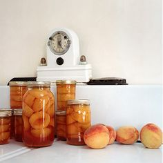 Home-canned peaches. A personal favorite.