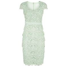 Buy Jacques Vert Sweetheart Lace Layered Dress, Light Green Online at johnlewis.com
