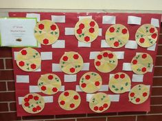 Rhythm pizzas.  Students fold 8in circles into eighth slices, each slice is equal to 1 beat.  They can add pepperoni = 1 quarter note, cheese = 1 quarter rest, or 2 peppers = 2 eighth notes.  Eight beats total.