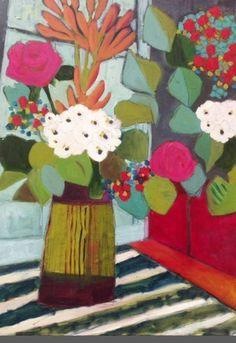 "Still Life Artists International: Expressionist Still Life Art Painting ""Mixed Bouquet"" by Santa Fe Artist Annie O'Brien Gonzales"