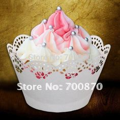 Aliexpress.com : Buy Free Shipping Customized wrapper ST1010 10 120pcs Flower Laser Cut Cupcake Wrapper for Party Decorations from Reliable canned greens suppliers on Red Leaves Card