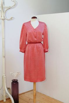 Vintage 80s Polka Dot Silk Dress por Laimperdible en Etsy