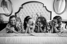 Walt Disney World bride and bridesmaids relax at their hotel before the wedding