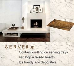 Stylish firewood storage solutions from @StyleCarrot • Marni Katz