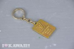 Authentic Louis Vuitton Gold Plated Vintage Key Ring