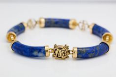 Antique-C-1920-Art-Deco-14k-Yellow-Gold-Chinese-Lapis-Lazuli-Bangle-Bracelet