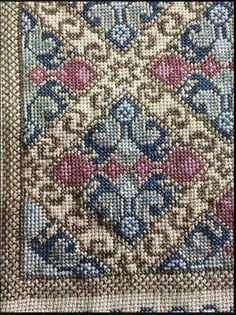 Hand Embroidery Design Patterns, Cross Stitch Patterns, Cross Stitching, Cross Stitch Embroidery, Cross Stitch Flowers, Cross Stitch Charts, Bohemian Rug, Pattern Design, Needlework