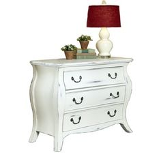 The Regency White Bombe Chest-nightstand?