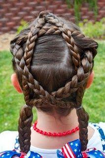 Braided Star hairstyle @ Princess Piggies
