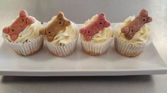 Dog milk bone cupcakes for your puppy birthday! Made by CupCasions Kelowna.