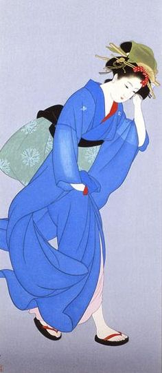 Wind  1939, Kitano Museum of Art  Through the Sapphire Sky: The Uemura Shōen Exhibition -exquisite beauty expressed-