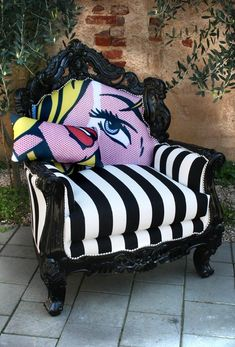 Lichtenstein chair I love this except I am pretty sure that eye would freak me out too much.......