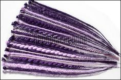 Purple and lilac single ended synthetic dread extensions  set