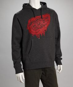 21c9d14f762 Black Detroit Red Wings Taggin  Hoodie - Men by Viral on  zulily Red Wings