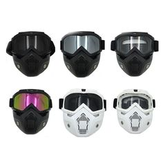 f6568106f7 Men s Modular Mask Flexible Detachable Motorcycle Goggles And Mouth Filter  Perfect For Open Face Motorcycle Half Helmet  88845-in Glasses from  Automobiles ...