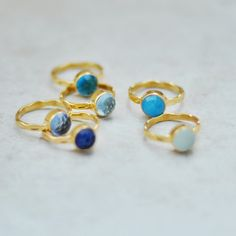 #gemstone rings #stacking rings #jewelry