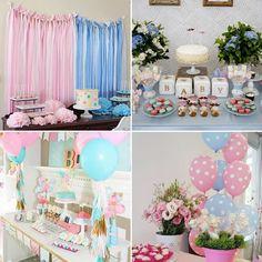 como organizar um chá revelação, bolo, decoração, mesa de doces, surpresa, baby shower