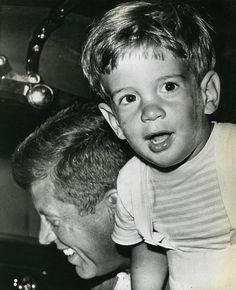 John, Jr. and his father, President John F. Kennedy, at Otis Air Force Base, Massachusetts, 1963.