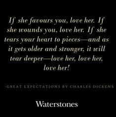 Great Expectations by Charles Dickens Book Quote
