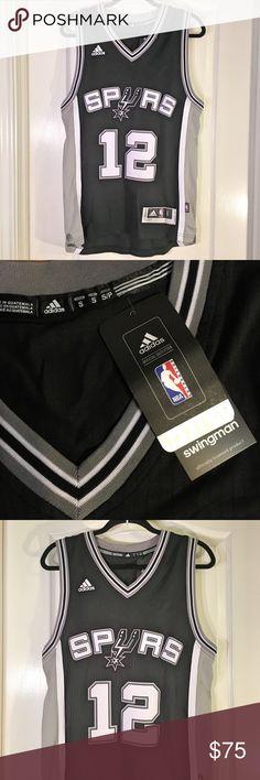 "Adidas NBA Spurs Swingman Aldridge #12 Jersey NWT Adidas NBA Spurs Swingman Aldridge #12 Jersey ~ Size Small ~ UA to UA is approximately 20"" ~ Length is approximately 28"" & 30"" adidas Shirts"