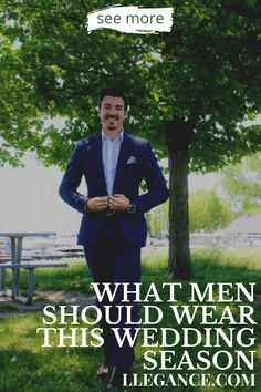 Click here to learn about What men should wear this wedding season on Llegance! You'll find pins about mens clothing wedding guest and mens clothing wedding groom attire. Additionally, mens clothing wedding casual and mens clothing wedding styles. As well as, mens clothing wedding outfit and mens wedding attire guest summer. Also, mens wedding attire rustic and mens wedding attire casual. Stylish mens suits wedding black and mens suits wedding summer.   #menswear #wedding #suit Wedding Black, Wedding Summer, Wedding Groom, Wedding Attire, Mens Fashion Suits, Mens Suits, Smart Casual Outfit, Men Casual, Different Suit Styles