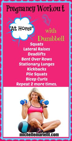 Full body pregnancy workout that is safe for every trimester.  If you don't want to gain a ton of weight, these workouts are great.