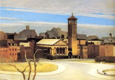 Edward Hopper (1882-1967)  November, Washington Square, 1955 ~Repinned Via Shirley Self