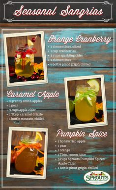 Seasonal Sangrias - Just in time for the holidays!