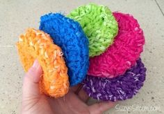 crocheted pot scrubby pattern