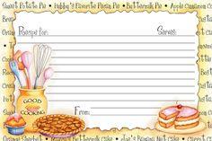 Kitchen recipe card