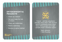 Project Ideas - Environmental projects.