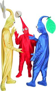 This made my day. Pikmin costumes!