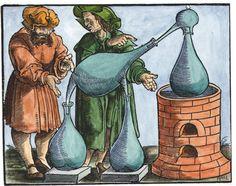 Woodcut from Geber De alchimia libri tres, Strassburg, Magnum Opus, Tarot, Alchemy Symbols, Esoteric Art, Ancient Mysteries, Ancient Aliens, Occult, Archaeology, Art History