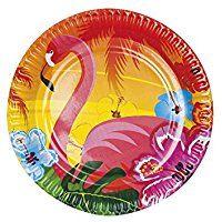 Papel flamenco fiesta hawaiana placas Pk6