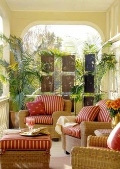 Nice porch...perfect on sunny days!