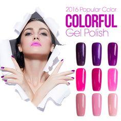 Azure 60 colors Shining Soak-off UV Led Gel Polish Gel Nail Polish UV Gel Polish Long-lasting Soak-off LED UV  Gel Nail Polish