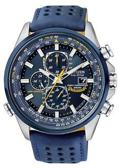 Men's Citizen Blue Angels World Chronograph A-T Watch (AT8020-03L)