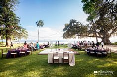 What a gorgeous Maui wedding reception setup! Coordinated by Mauis Angels. Photographed by Mike Sidney Photography!